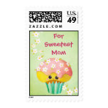 Mother's Day Lovely Cupcake -custom txt- Postage