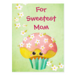 Mother's Day Lovely Cupcake -custom txt- Postcard