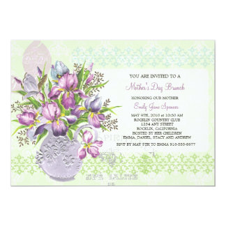 """Mother's Day Lunch Reunion Elegant Floral 5"""" X 7"""" Invitation Card"""