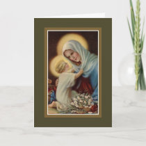 Mother's Day Madonna Child Jesus Virgin Mary Card