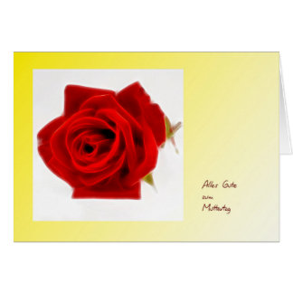 Mother's Day map decay red rose Card