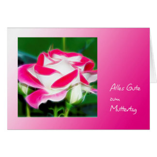 Mother's Day map decay Weis-red rose Card