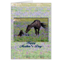 Mother's Day Mare & Foal from Son or Daughter Poem Card