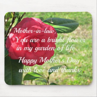 Mother's day message for Mother-in-law. Mouse Pad