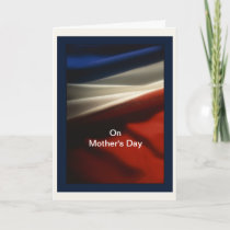 Mother's Day - Military Mother - USA American Flag Card