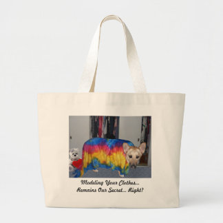 Mother's Day Modeling Clothes Large Tote Bag
