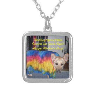 Mother's Day Modeling Clothes Silver Plated Necklace