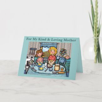 Mother's Day Mom and Daughter Greeting Card card