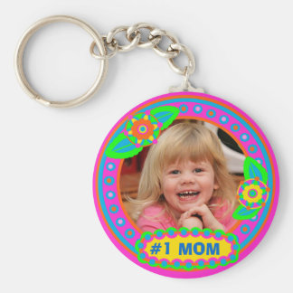 Mother's Day / Mom Custom Photo & Text Keychain