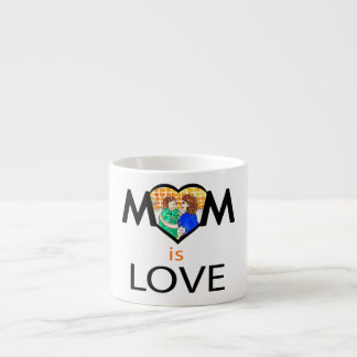 Mother's Day Mom is Love Espresso Cup