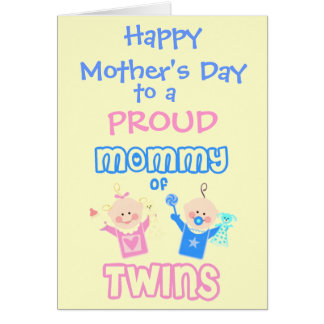 Mother's Day Mom of Twins greeting Card