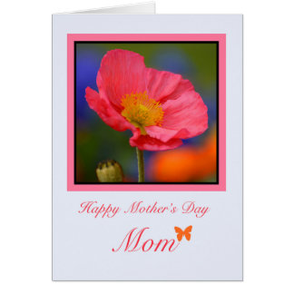 Mother's Day Mom, Pink Poppy
