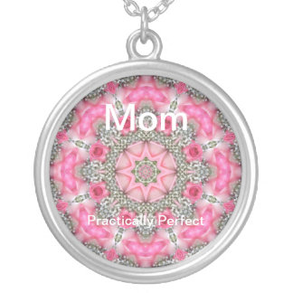 Mother's Day - Mom,  Practically Perfect Round Pendant Necklace