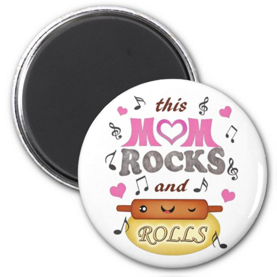 Mother's Day / Mom Rock & Bake Magnet