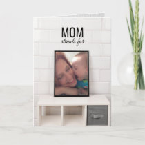 Mothers Day / Mom Stands for Maestro of Miracles Card
