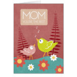 Mother's Day - MOM You're the Best Whimsical Birds Card