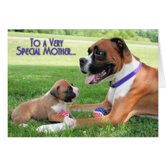 Mothers Day - Mommy Boxer - Vindy Greeting Card