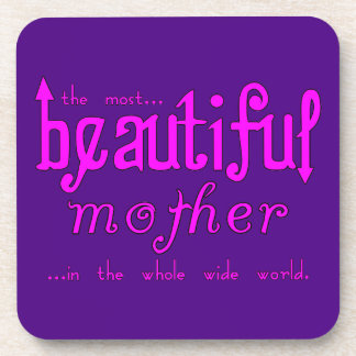 Mothers Day Moms Birthday Parties Beautiful Mother Coasters