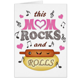 Mother's Day / Mom's Birthday Rock & Bake Card