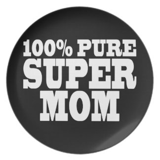 Mothers Day Moms Birthdays 100 Pure Super Mom Party Plates