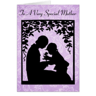 Mothers Day Mother and Child Silhouette Card