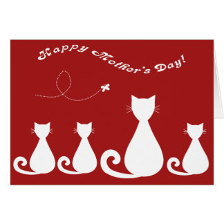 Mother's Day: Mother Cat and Kittens Greeting Cards