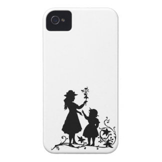 Mother's Day mother daughter vintage silhouette iPhone 4 Case
