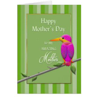 Mother's Day, Mother, Tropical Bird Fushsia