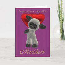 Mother's Day, Mothering Sunday Cute Sheep Card