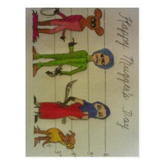 Mother's Day mugger's mug Postcard