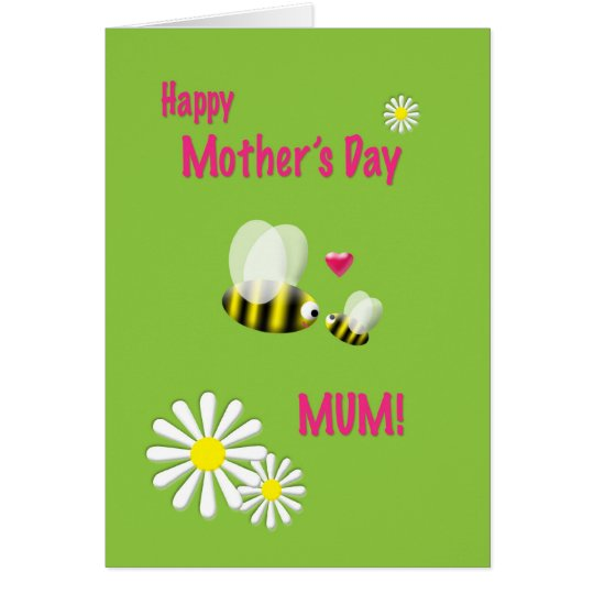 Mother's Day Mum Busy Bees Card