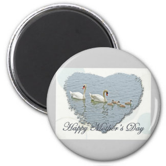 Mother's Day Mute Swan Famly Magnet
