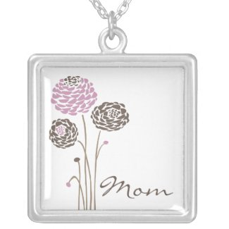 Mother's Day Necklace Mom Trendy Flowers necklace