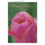 Mother's Day Note Card - Pink Tulip