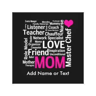 Mother's Day or Birthday for a Wonderful Mom Canvas Print