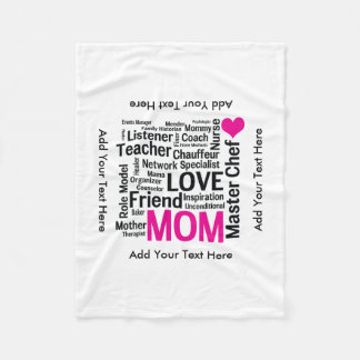 Mother's Day or Birthday for a Wonderful Mom Fleece Blanket