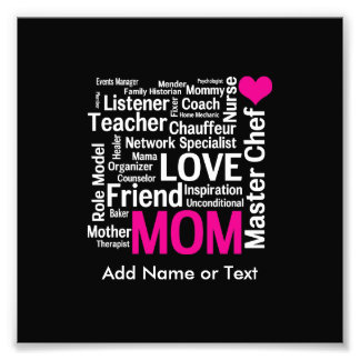 Mother's Day or Birthday for a Wonderful Mom Photo Print