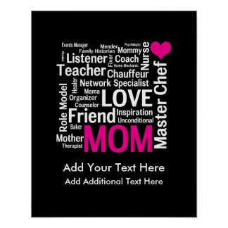 Mother's Day or Birthday for a Wonderful Mom Poster