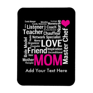 Mother's Day or Birthday for a Wonderful Mom Rectangular Photo Magnet
