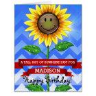 Mother's Day or Birthday Sunflower Custom Big Card