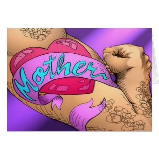 Mother's Day or Birthday Tattoo Cute Card