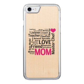 Mother's Day or Mom's Birthday Do-it-All Mother Carved iPhone 8/7 Case