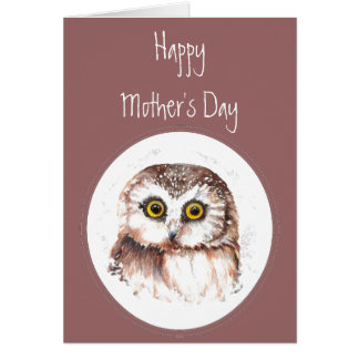 Mother's Day Owl Always Love You, Cute Owl Humor Greeting Card