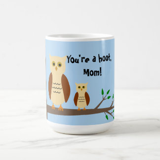 Mother's Day Owl White Mug