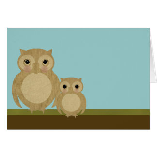 Mother's Day Owls Card