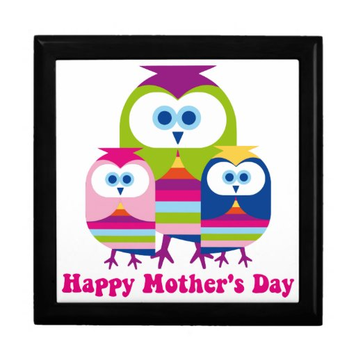 Mother's Day Owls - Customize or Text Included Jewelry Box