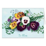 Mother's Day Pansies Greeting Card