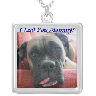 Mother's Day Paw Mom Boxer Dog Necklace