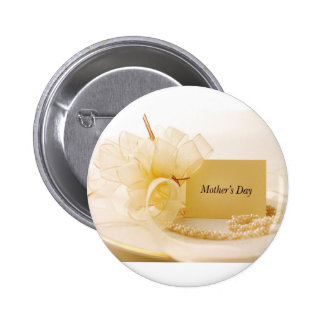 Mother's Day Pearls Button