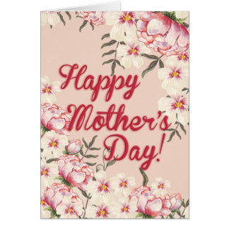 Mother's Day Peonies Card